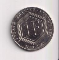 1 Franc France Charles De Gaulle 1988 Sans Différents - H. 1 Franc