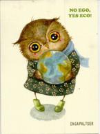 Kind And Loving Owl, Postcard From Vitebsk (Belarus)  Sent To Andorra, With Arrival Postmark. - Birds