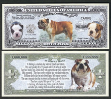 !!! USA - FANTASY NOTE -  BULLDOG  CERTIFICATE , 2017 - UNC / SERIES  K 9 - Other