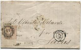 1867. Sobrescrito De Cádiz A Salas - Briefe U. Dokumente