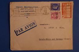 L10 ALGERIE BELLE LETTRE 1948 PAR AVION ALGER BLIDA POUR ST FELIX FRANCE+ SURCHARGE + AFFRANCH. INTERESSANT - Briefe U. Dokumente