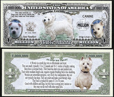 !!! USA - FANTASY NOTE -  WESTIE  CERTIFICATE , 2016 - UNC / SERIES  K 9 - Other