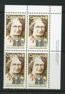 """Canada MNH PB 1973 """"Nellie McClung - Oblitérés"""