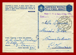 """Occupation  Italienne En France . Cp De FM """" Posta Militare 305 """"  Tamaris Sur Mer 6-4-43. Chemises Noires. - WW II"""