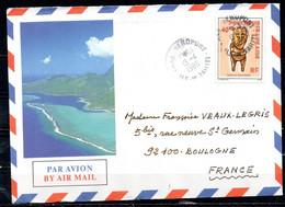 POLYNESIE. N°229 De 1985 Sur Enveloppe Illustrée Ayant Circulé. Tiki. - Briefe U. Dokumente