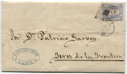 1871. Sobrescrito De Cádiz A Jerez. - Cartas