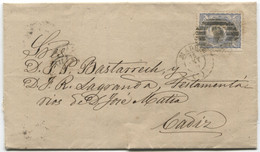 1871. Sobrescrito De Madrid A Cádiz, Llegada. - Cartas
