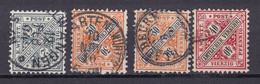 Wuerttemberg - 1896 - Dienstmarken - Michel Nr. 214/216 - Gestempelt - Wurttemberg