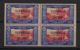 Wallis Et Futuna - 1930-38 - N°Yv. 54A - Case De Chef 55c - Bloc De 4 - Neuf Luxe ** / MNH / Postfrisch - Unused Stamps