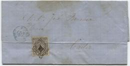 1872. Impreso De Huelva A Cádiz, Rara Tarifa De Impresos 2 Milésimas Negro Ed 103 Y Llegada - Cartas