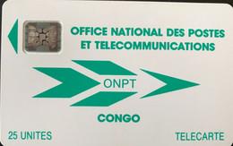 CONGO  -  Phonecard  - ONPT  -  25 Unités - Congo
