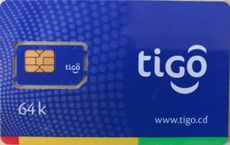 CONGO  -  Carte GSM With Chip  -  Tigo  - 64 K - Congo