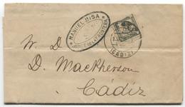 1890. Tarifa De Impresos De Jerez A Cádiz, Con Llegada - Briefe U. Dokumente
