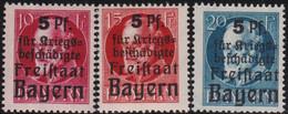 Bayern    .   Michel    .    171/173 - A     .    **     .    Postfrisch - Bavaria