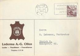 """Motiv Karte  """"Lederma AG, Olten""""            1941 - Briefe U. Dokumente"""