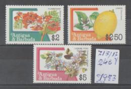 ANTIGUA  **  MNH  1983  **   MNH  YVERT  715/17 VALOR  24 €  MARIPOSAS  LOTE - Antigua Y Barbuda (1981-...)