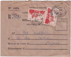 Cameroun - Eseka - Lettre Recommandée Pour La France (Dordogne) - Enveloppe Service Des Postes - 1950 - Oblitérés