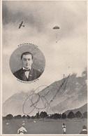Aviation - Parachutiste Tessinois Plinio Romaneschi Avec Autographe - Rare - Paracaidismo