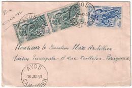 Cameroun - Ayos - Lettre Avion Pour La France - 18 Janvier 1950 - Oblitérés