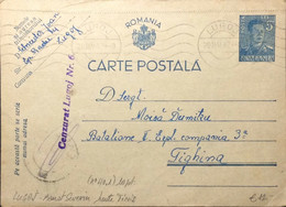 "ROUMANIE / ROMANIA 1942 (20/05) ""Cenzurat Lugoj Nr.6"" (Timis) On Postal Card - Briefe U. Dokumente"