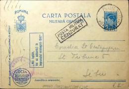 ROUMANIE / ROMANIA 1942 (21/04) Censored Military P.Card Mi.FP11.I From APO N°63 - Briefe U. Dokumente