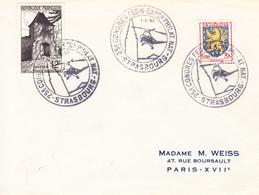 France-Strasbourg-01/6/1952-25è Congès Fédéral -Expo Philatélique Nationale - Hubschrauber