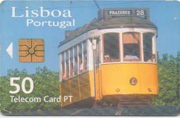 Telecom Card PT Portugal : Tramway à Lisbonne (moyen état) - Trenes
