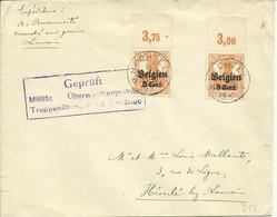 1917 Censuurbrief Van Hechtel (sterstempel) Naar Heverlee  Truppenübungsplatz Beverloo - [OC1/25] General Gov.