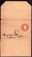 "Argentina - 1896 - Faja Postal - Faj-26 - 1c. Castaño Rojizo - Variedad ""Repúlbica"" - A1RR2 - Briefe U. Dokumente"