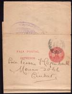 Argentina - 1908 - Faja Postal - Bande Postale - General San Martin - 1/2 Ctv - A1RR2 - Briefe U. Dokumente