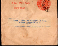Argentina - Circa 1900 - Faja Postal - Bande Postale - Republica En Medallon - 1/2 Ctv - A1RR2 - Briefe U. Dokumente