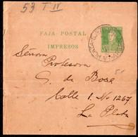 Argentina - Circa 1920- Faja Postal - Bande Postale - Gral. San Martin - 3 Ctv - A1RR2 - Briefe U. Dokumente