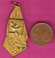Médaille Sportive UFOLEP Ligue Française De L'enseignement Pour Le Tennis De Table - Athletics