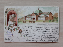 Germany Deutschland Industrie Gewerbe Und Kunst Ausstellung Dusseldorf 1894 Pavillon Krupp Circulate L Postcard Circuler - Düsseldorf