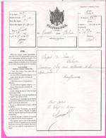 Grand Télégramme Aux Armes Impériales Modèle 324 De Grenoble Pour Valence 1864 - Télégraphes Et Téléphones