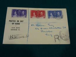 Grenada 1937 Coronation Register FDC - Grenada (...-1974)