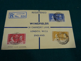 Northern Rhodesia 1937 Coronation Register FDC - Nordrhodesien (...-1963)