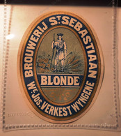 Beer Label Belgium Biere Etiquette St Sebastiaan Verkest Wyngene #A4 - Bier
