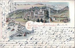 Gruss Aus Adelboden BE, Grand Hotel & Pension Wildstrubel (10095) - BE Berne