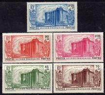 Guinée Française N° 153 / 57 X  150ème Anniversaire De La Révolution : Les 5 Valeurs  Trace De Charnière Sinon TB - Unused Stamps