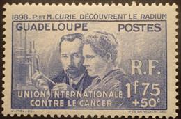 R2452/205 - 1938 - COLONIES FR. - GUADELOUPE - PIERRE Et MARIE CURIE DECOUVRENT LE RADIUM - N°139 NEUF* - Neufs