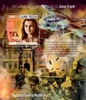 Guinea-Bissau, 2015. [gb15518] WW II, Anne Frank (s\s+block) - Seconda Guerra Mondiale
