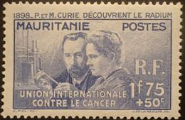 R2452/212 - 1938 - COLONIES FR. - MAURITANIE - PIERRE Et MARIE CURIE DECOUVRENT LE RADIUM - N°72 NEUF* - Neufs