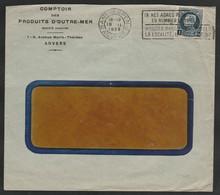 No 215Petit Montenez Sur Lettre /op Brief Oblit /gestp - 1921-1925 Petit Montenez