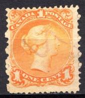 CANADA - (Dominion - Colonie Britannique) - 1868-90 - N° 19 - 1 C. Jaune Foncé - (Victoria) - Usados
