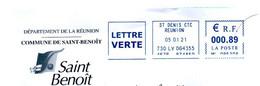 EMA Ile De La Réunion Mairie De SAINT BENOIT - EMA ( Maquina De Huellas A Franquear)