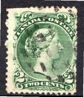 CANADA - (Dominion - Colonie Britannique) - 1868-90 - N° 20 - 2 C. Vert - (Victoria) - Oblitérés