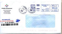 Cachet Manuel Gironde 33 GRADIGNAN PDC Sur Lettre Recommandée - Manual Postmarks