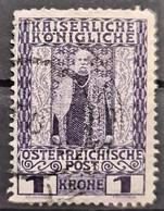 AUSTRIA 1908 - Canceled - ANK 153z - Graues Kreidepapier - Usados