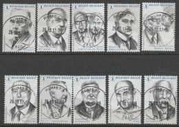 4636/4645 Nobel En Belgique /Nobels Winnaars Oblit/getp Centrale - Usados